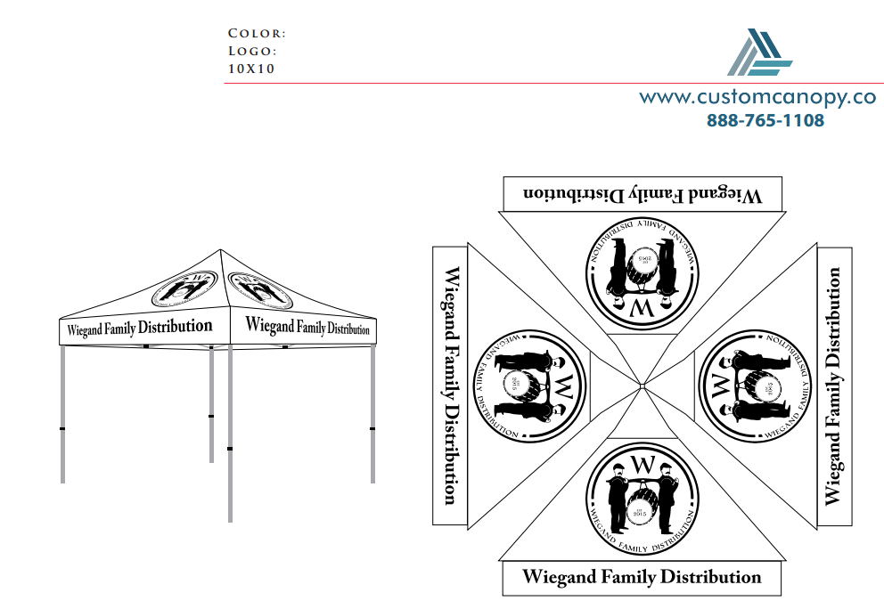 Wiegand Family - Check-out - Custom Canopy: Many Sizes - Full ...