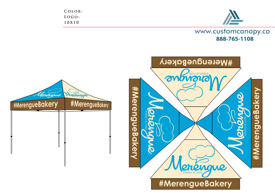 Merengue Bakery - Check-out - Custom Canopy: Many Sizes - Full ...