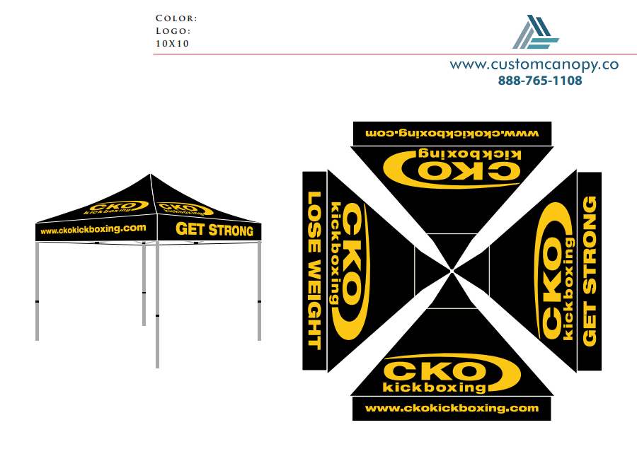 CKO Kickboxing - Check-out - Custom Canopy: Many Sizes - Full ...