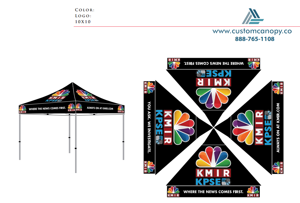 KMIR - Check-out - Custom Canopy: Many Sizes - Full Digital Printing ...